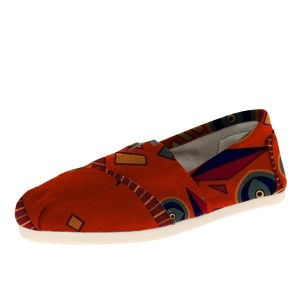 Orange Chic Printed Slip-On