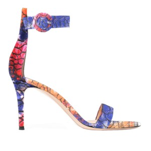 Multi-color Open Toe Pebbling Ankle Strap Sandals for Women