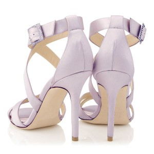 Orchid 3 Inch Heels Cross-over Strap Open Toe Stilettos Sandals