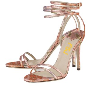 Chloe Pink Ankle Strappy Sandals