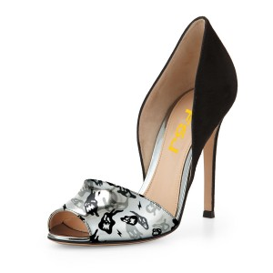 Funny Faces Printed D'orsay Pumps