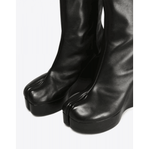 Black Custom Made Wedge Ankle Boots