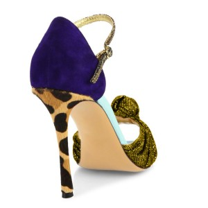 Gold Evening Shoes Peep Toe Sparkly Sandals with Bow
