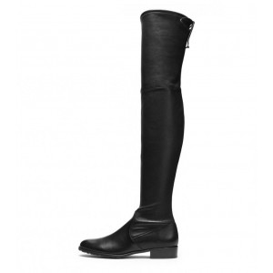 Black Classic Long Boots Over the Knee Boots