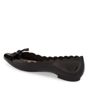 Black Curvy Bow Comfortable Flats