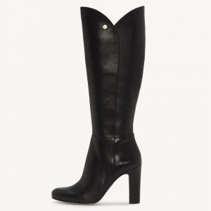 Black Fashion Chunky Heel Boots