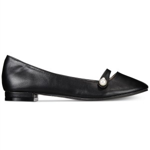 Black Pearl Mary Jane Shoes Round Toe Flats School Shoes