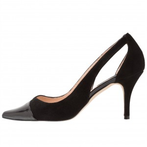 Black Pointy Toe Office Heels Stiletto Heel Pumps