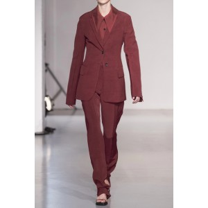 Women's Burgundy Blazer Business Clothes