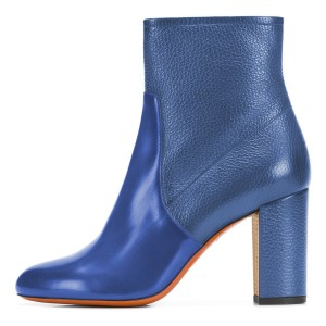 Blue Joint Ankle Boot chunky Heel Boots
