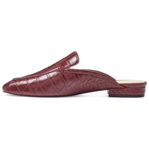 Brown Croc Loafers for Women Comfortable Flats