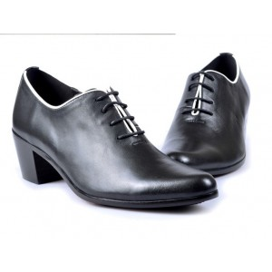 Women's Black Vintage Commuting Oxfords
