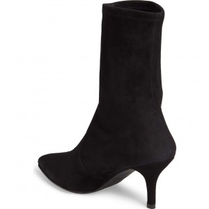 Women's Black Suede Mid-Calf Boots