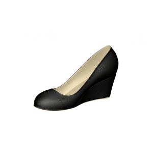 Custom Made Black Wedge Pumps