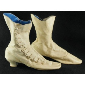 Custom Made Beige Buttoned Boots