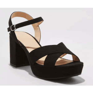 Custom Made Black Suede Casual Platform Sandals