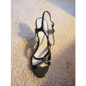 Custom Made Black Heeled Casual Sandals