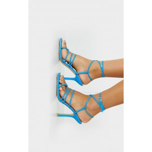 Custom Made Blue Strappy Sandals