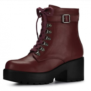 Custom Made Maroon Lace up Ankle Boots