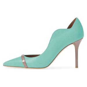 Cyan Curvy Dorsay Stiletto Heels Pumps
