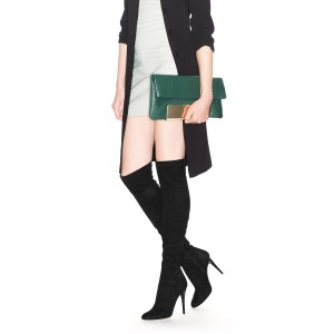 Fashion Black Stiletto Boots Pointy Toe Suede Sexy Thigh High Boots