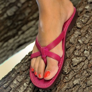 Hot Pink Beach Sandals Summer Cute Flat Sandals US Size 3-15