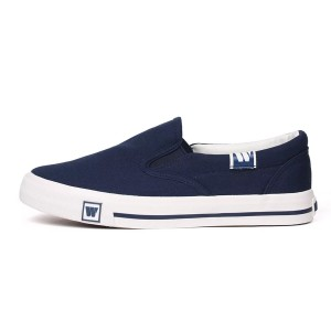 Hui Li Navy Slip-On Sneakers