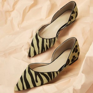 Leopard and Zebra Print Comfortable Flats