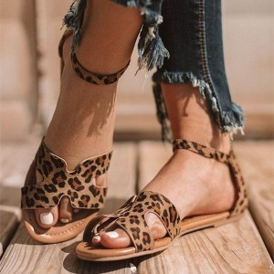 Leopard Print Flats Comfortable Shoes