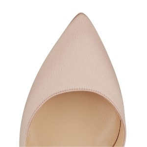Light Pink D'orsay Ankle Strap Heels Stiletto Heels Pumps