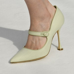 Mint Green Mary Jane Pumps Spool Heel Pumps