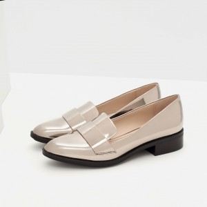 Nude Round Toe Comfy Flat Loafers for Women