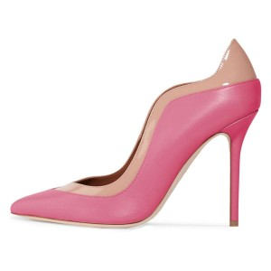 Pink and Blush Office Heels Pointy Toe Stilettos Pumps by FSJ