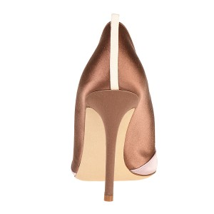 Pink and Champagne Stiletto Heels Office Heels Pumps