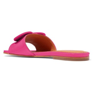 Pink Patent Leather Heart Women's Slide Sandals