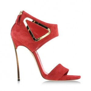 Red Suede Stiletto Heels Open Toe Cut out High Heels Sandals