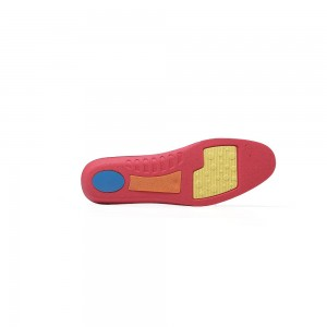 Red Insoles for Running and Walking