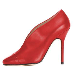 Red Vintage Heels Pumps