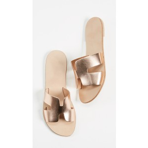 Rose Gold Summer Comfortable Flats Open Toe Mule
