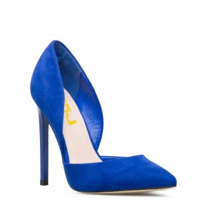 Women's Royal Blue Pointy Toe Stiletto Heels Pumps Dress Shoes by FSJ