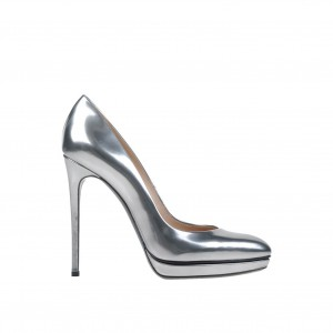 Silver Metallic Heels Office Shoes Stiletto Heels Platform Pumps