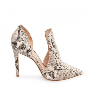 Women's Snake Skin Stiletto Heels Pointy Toe Pumps