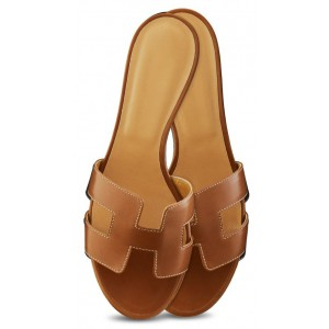 Tan Mule Vintage Shoes Open Toe Flats Legend Sandals