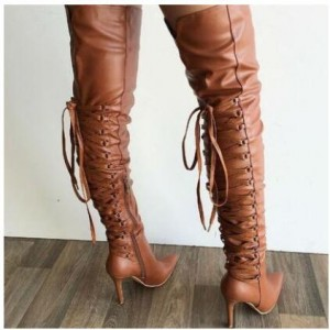 Women's Sexy Pointy Stiletto Heels Over-The- Knee Boots