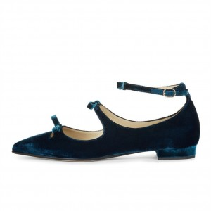 Teel Tri Straps Pointy Toe Flats