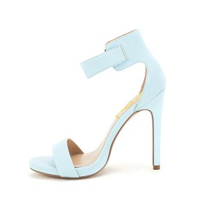 Women's Blue Commuting  Stiletto Heel Ankle Strap Sandals