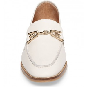 White Loafers for Women Round Toe Flats