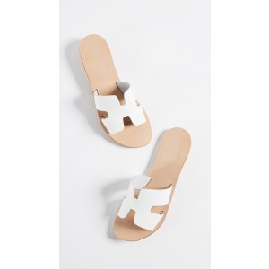 White Summer Comfortable Flats Open Toe Mule