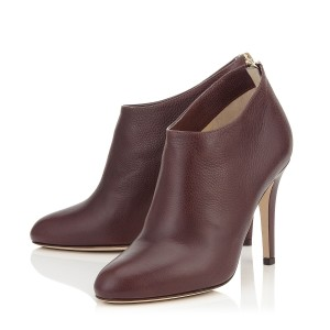 Women's Maroon 4 Inch Heels Stiletto Boots Pointed Toe Ankle Boots