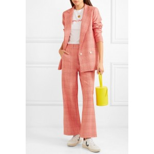Women's Pink Checked Blazer